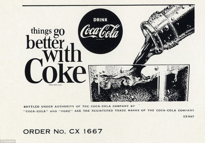 "The 1960s and 1970s drew on simple advertising with slogans like ""things go better with coke"""