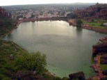 View of the entire Augusthya Lake from Top of the Hill.