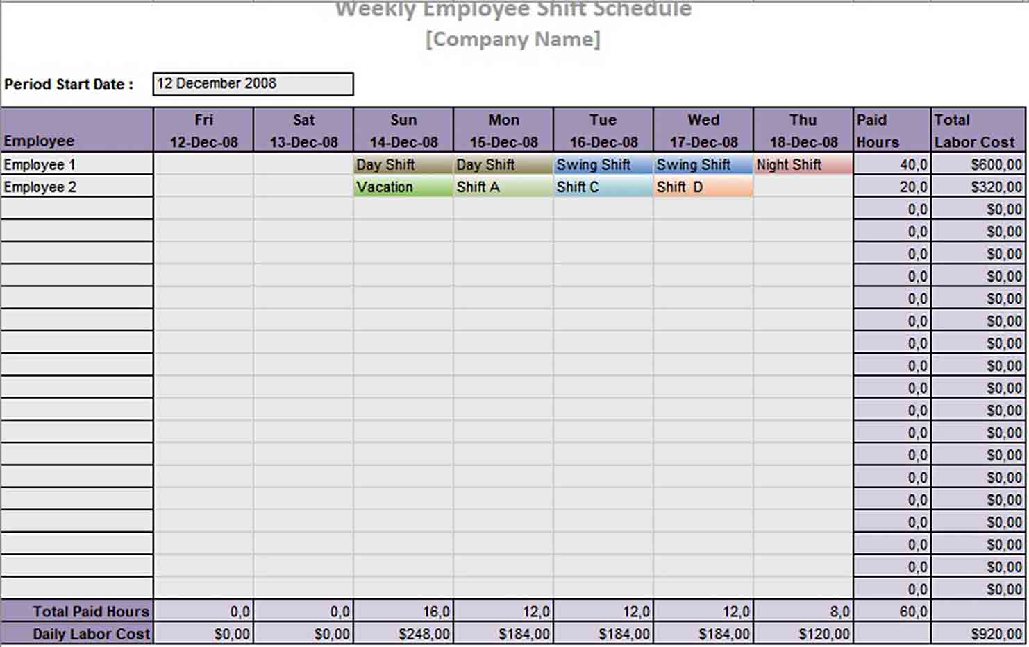 A weekly schedule template is great for routine items or special events, like conferences, training programs, or travel plans. 10 Hour Shift Schedule Template Think Moldova
