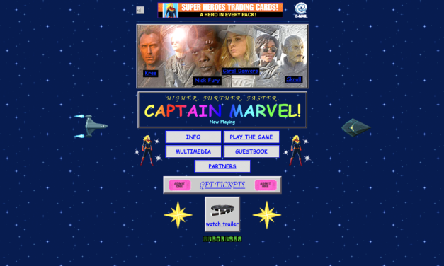 Marvel Blasts Us Back to the 90s with 'Captain Marvel' Site