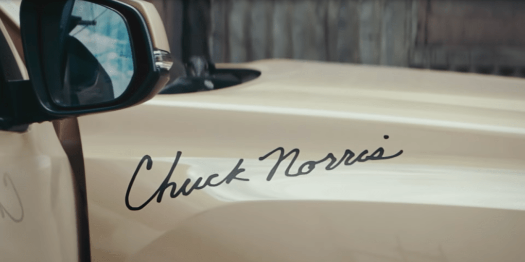 Chuck Norris Leaves His Siagnature on the Toyota Tacoma