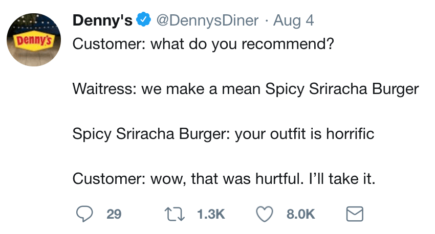 Denny's Comedy Tweet 1