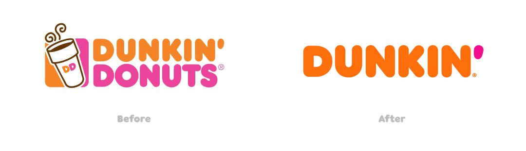 Dunkin brand before and after