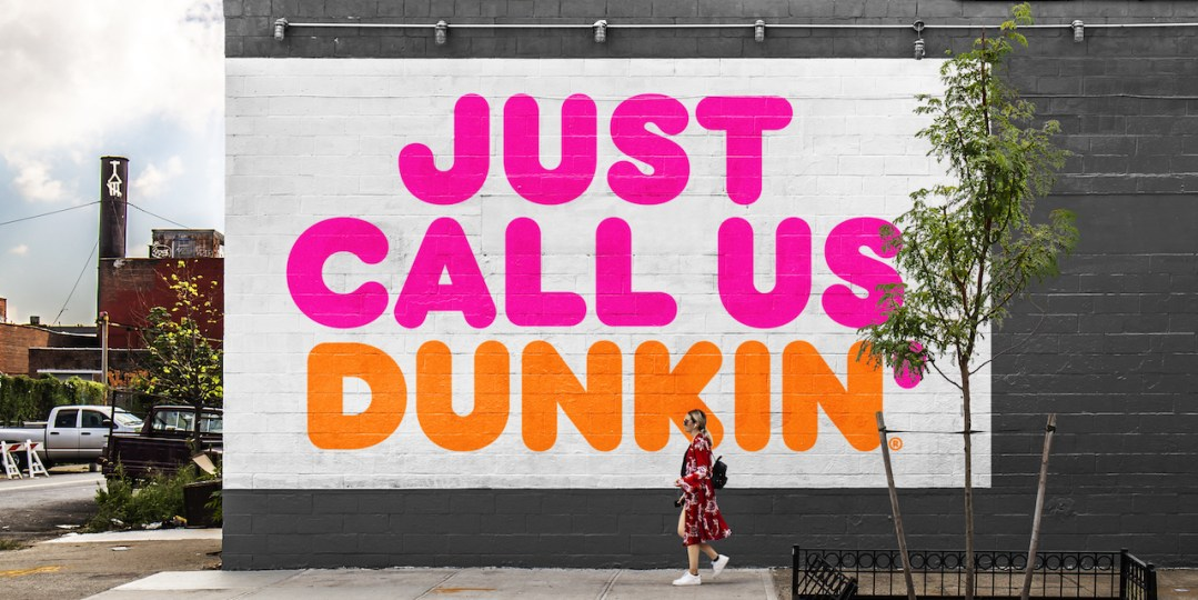 Dunkin drops the Donuts