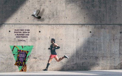 A Snack Company's First Outdoor Ad Was Only Seen by a Pigeon and a Runner