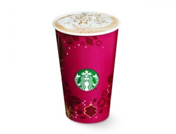 Starbucks holiday eggnog latte