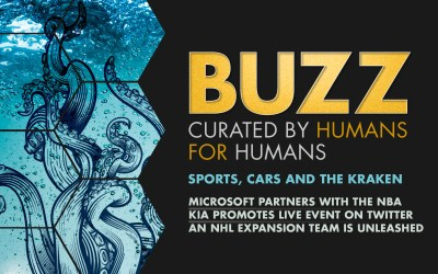 Weekly Buzz: Microsoft and NBA go court-side, Kia's live stunt, & the Seattle Kraken emerges