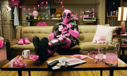 Deadpool Donates a Pink Suit