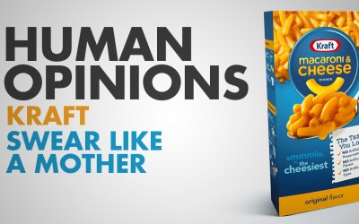 Human Opinions: Kraft Is Swearing In This Ad