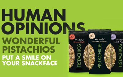 Human Opinions: Wonderful Pistachios Put A Smile on Your Snackface