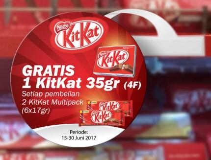 KitKat Wobbler Multipack Gratis 4F