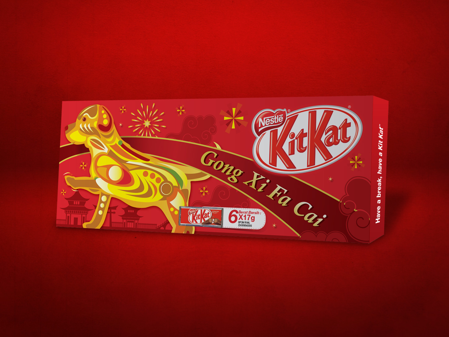 KitKat Chinese New Year Special Pack Design 2018