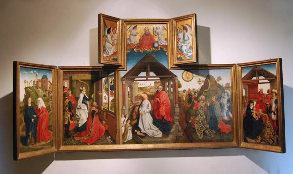 Workshop Of Roger Champin Annunciation Triptych Merode