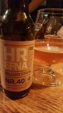 Another beer in our beer pairing at Fiskmarkaðurinn restaurant in Reykjavik