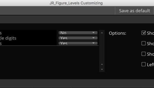 JR_Figure_Levels indicator for ThinkOrSwim - properties window