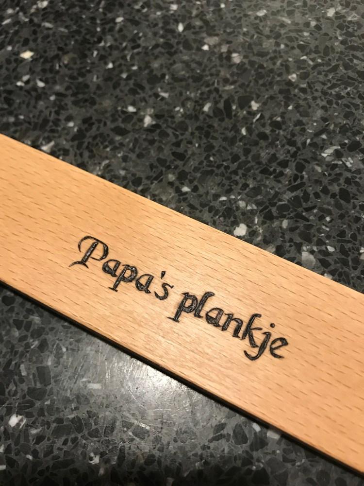 A cutting board for dad