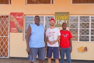 Shop owner, Woocash and Robert