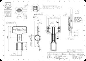 Engineering documentation for the 'pull-down' moulding.
