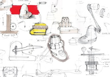 Early sketch exploration of possible mechanisms
