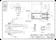 Engineering details of the 'telemetry plate' moulding.
