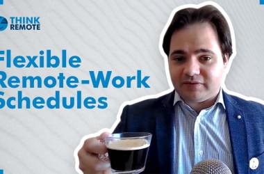 Luis discusses flexible remote work schedules during his coffee chat
