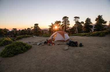 Remote life in a camp