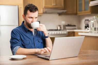 Man working at home