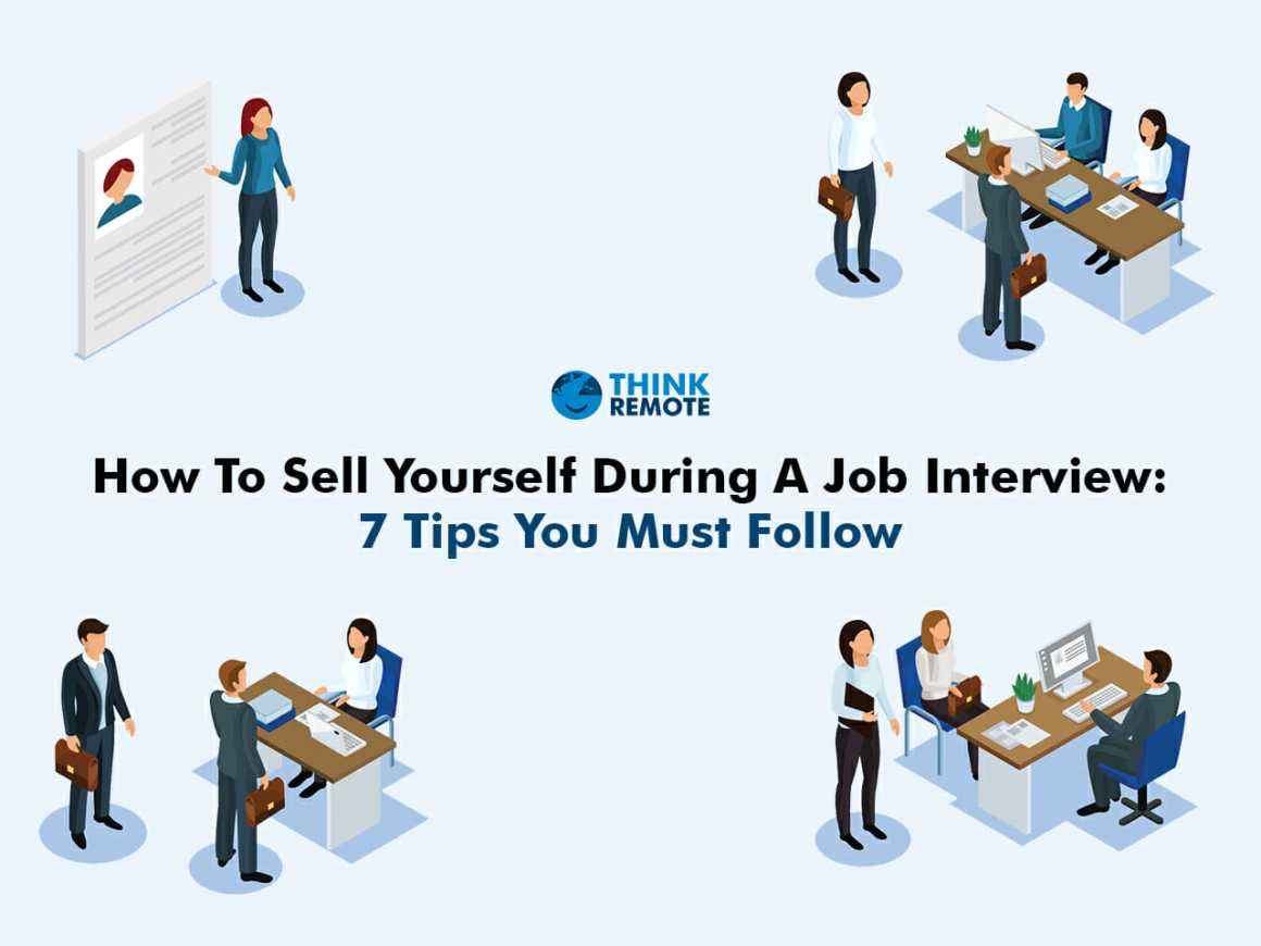 How to sell yourself for a job