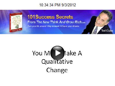 You Must Make A Qualitative Change