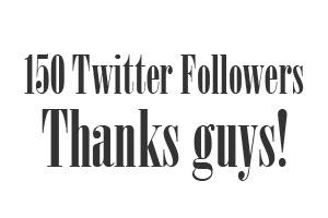 150 Twitter followers