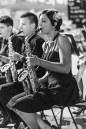 b&w - firenze, filarmonic concert @ palazzo vechio, saxophone