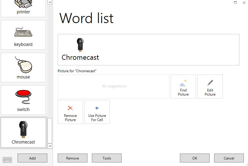 edit word list