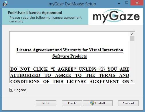 Mygaze install 3