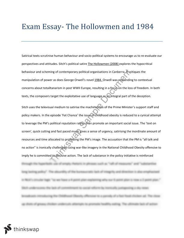 cosi hsc essay The hsc english examination (area of study: the journey), students should note that the format of this examination is subject to variation from year to year and they should consult their teachers and the.