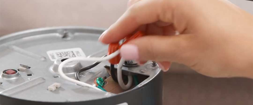 Connect the electrical wires from the disposal to the cord