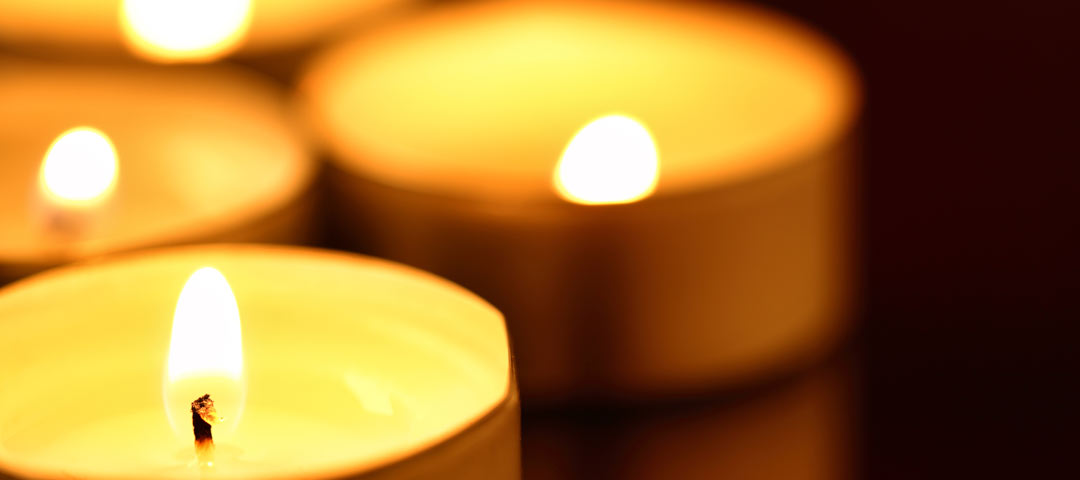 Small lit candles