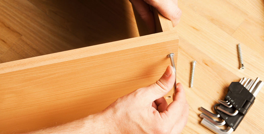 Inserting screws to form a base