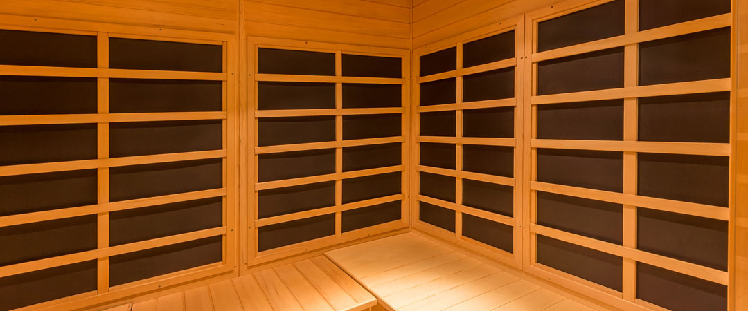 Infrared Sauna Panels within a Sauna