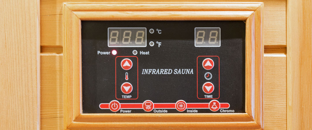 Control panel for an infrared sauna
