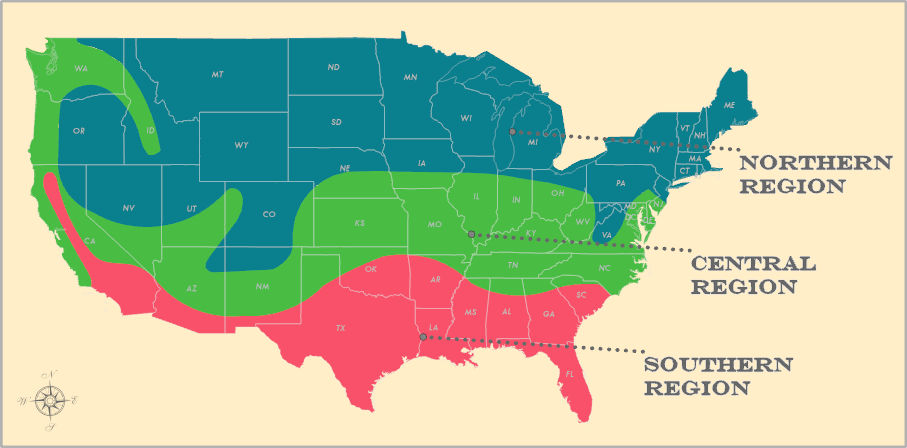 Ground Water Temperature Map