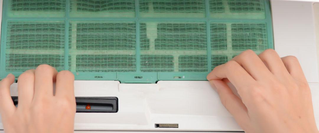 Washable window AC filter