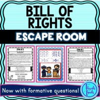 Bill of Rights Escape Room cover