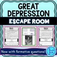 Great Depression Escape Room Picture