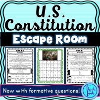 US Constitution Escape Room for Educational Classroom