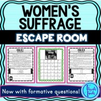 Women's Suffrage escape room picture