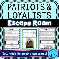 Patriots and Loyalists Escape Room