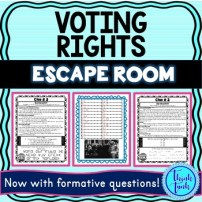 Voting Rights Escape Room cover