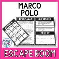 Marco Polo Escape Room Activity picture