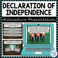 Declaration of Independence Interactive Google Slides picture