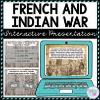 French and Indian War Interactive Google Slides pic